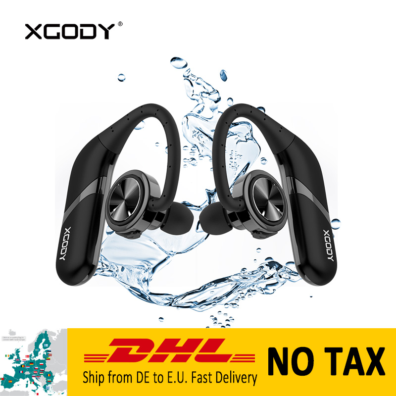 XGODY S800 In-Ear Bluetooth Earphone with Mic Handsfree Wireless Earbuds for Phone LPX67 Waterproof Headset Over Ear Headphones hlton portable wireless bluetooth earphone handsfree mini headset stereo earbuds car fast charger with mic for smartphone pc