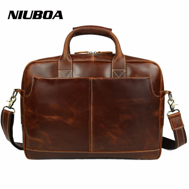 New Fashion Genuine Leather Men Briefcase Natural Cowhide Men's Messenger Bags 15 Laptop Business Bag Luxury Level Handbags new genuine leather coffee men briefcase 14 inch laptop business bag cowhide men s messenger bags luxury lawyer handbags lb9006