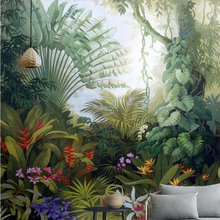 Beibehang Custom wallpaper home decor murals medieval tropical rain forest landscape television background walls 3d
