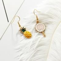 KAMEIER European Hot Fashion fruit earring women as cute gift and Lollipop pineapple statement earring for women by zinc alloy