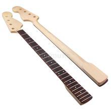 Bass Guitar Neck Maple Rosewood 4 String 21 Fret For Maple Bass Guitar Neck Replacement Parts White Dot Clear Satin