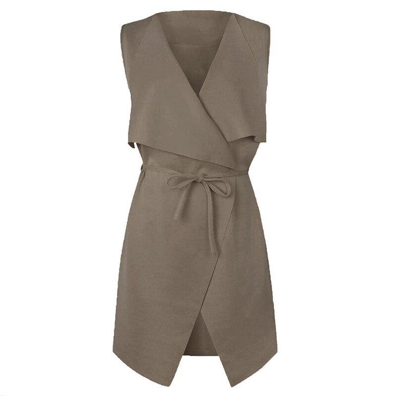 2018 Women Coat Sleeveless Waterfall Cape Long Cardigan Jacket Coat Windbreak Y2