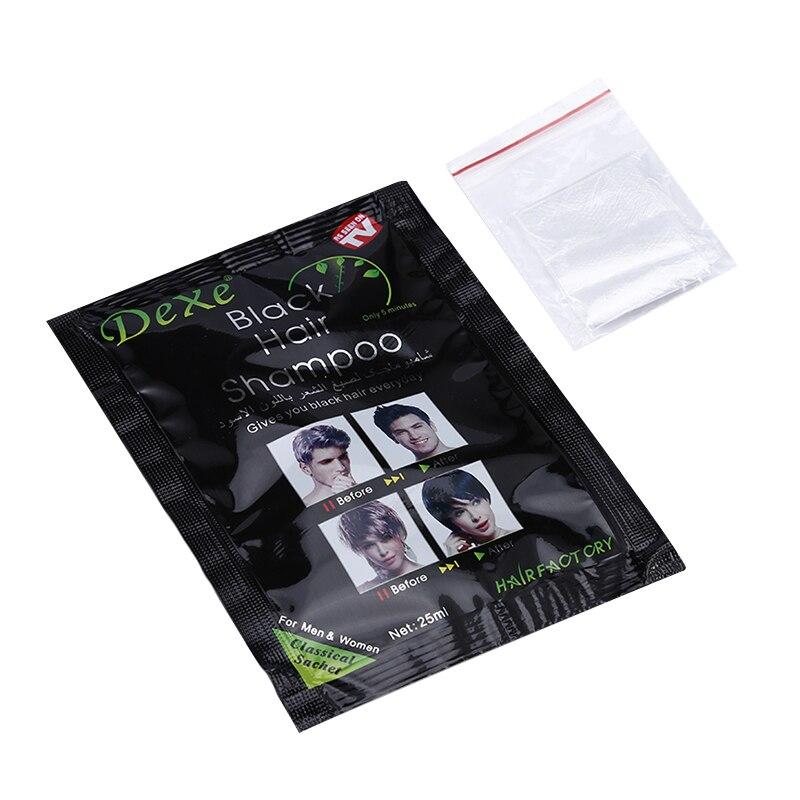 25mlx4 bag Hair Color Permanent Hair Dye shampoo repair the scalp 5 mins herb natural faster black hair Restore blacken shampoo Онихомикоз