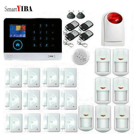 SmartYIBA WIFI IOS/Android APP Control Home/Shop Security Alarm System Motion Alarm Smoke Detector Door Magnetic Sensor Kits детская игрушка new wifi ios