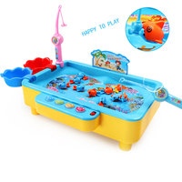 Fishing Game Musical Fishing Toys Swimming Fish Multifunction Toys Magnetic Board Game Early Learning Hunting Ducks