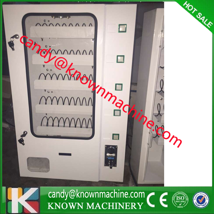 snack vending machine with coin acceptor