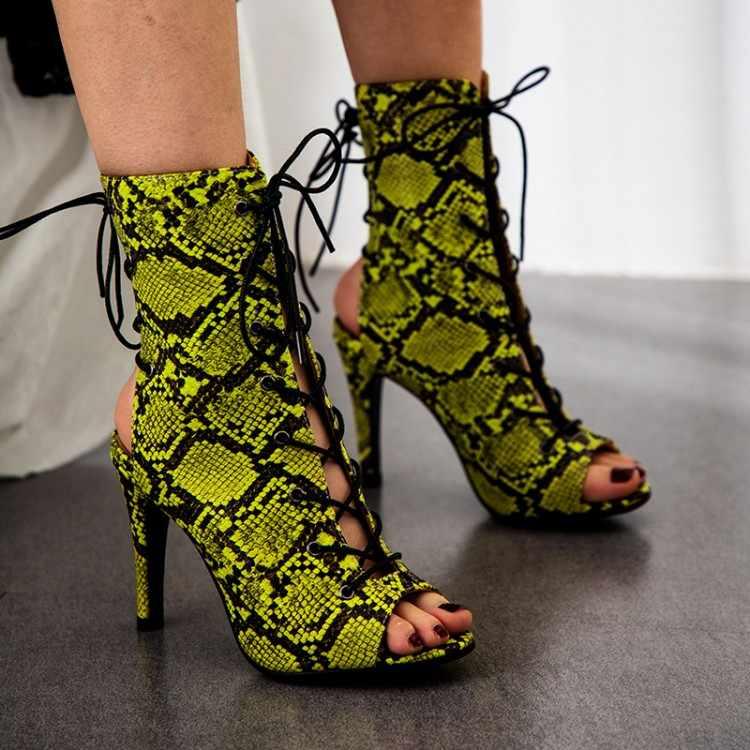 KarinLuna INS หรูหราออกแบบแบรนด์ผู้หญิงรองเท้า gladiator รองเท้าส้นสูง sexy peep toe รองเท้าแตะฤดูร้อนรองเท้า party รองเท้าผู้หญิง