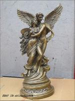 19Western Art beautiful Bronze Statue beauty and nude Cupid love god statue Garden Decoration 100% real Brass Bronze
