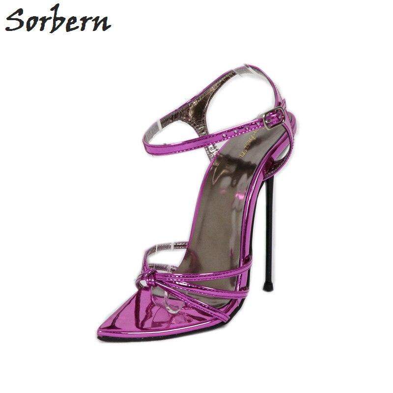 Sorbern/пикантные женские босоножки со стальными шпильками 14 см 16 см для ночного клуба, танцевальная обувь, босоножки на высоком каблуке, китай...