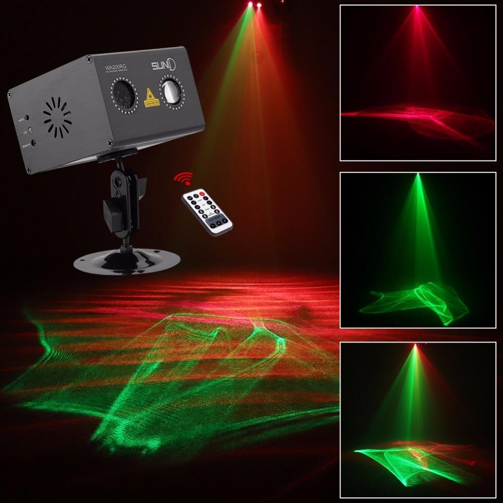 suny aurora rg luz laser efeito gobo projetor w luz de palco para o disco dj