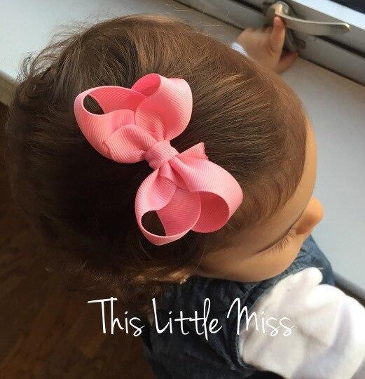 10 Teile/los 3 Zoll Schöne Haar Bogen Clip Nette Haar Clip Kleine Bogen Knoten Haarnadel Haar Zubehör Haar Ornamente Harmonische Farben