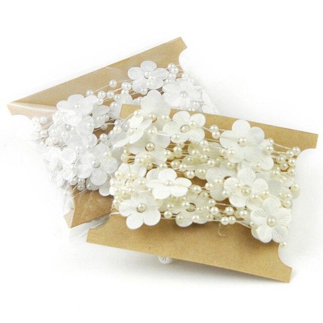 5 Mt Satin Künstliche Perlen Perlen Kette Kranz Blumen Hochzeit ...