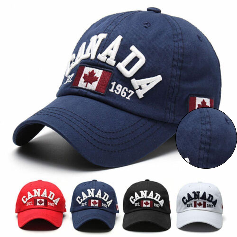 fashion Canada letter Adjustable Snapback Flag Men's Golf Baseball Cap Hop Hat Women Maple Leaf Country Design Cap Baseball Cap(China)