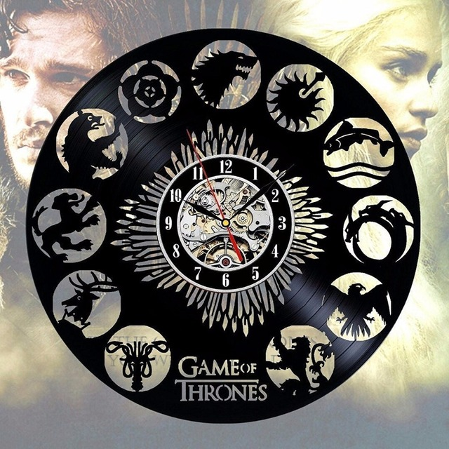 Game of Thrones The Houses Wall Clock