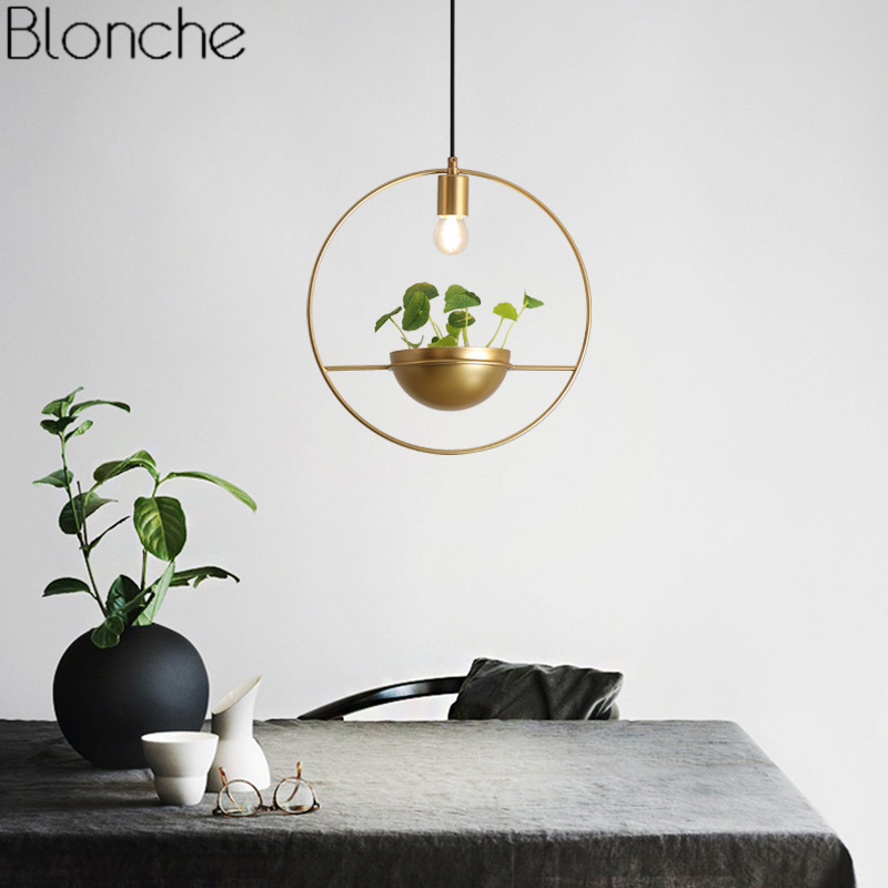 Modern Gold Single Ring Pendant Lights DIY Plant Led Hanging Lamp Dining Room Bedroom Lighting Fixtures Home Decor Luminaire E27Modern Gold Single Ring Pendant Lights DIY Plant Led Hanging Lamp Dining Room Bedroom Lighting Fixtures Home Decor Luminaire E27