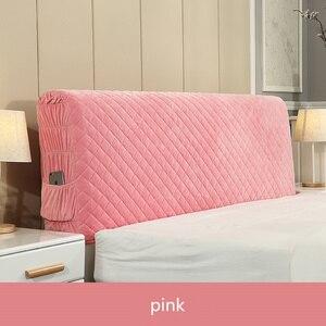 Image 3 - İskandinav tarzı yatak örtüsü 120 220cm herşey dahil kumaş nevresim toz geçirmez elastik çift yatak başlığı kapağı koruyucu kapak