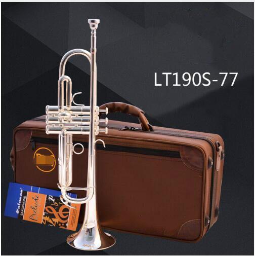 Marque Trompette LT190S-77 Argent Plaqué Surface Trumpete Petit Laiton Professionnel Pour Les Étudiants Musical Instrument Trompeta