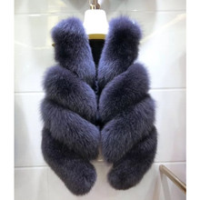 Solid Color Real Imported Fox Fur Waistcoat Women Female Whole Outerwear Vest Coat Short Paragraph Autumn Winter