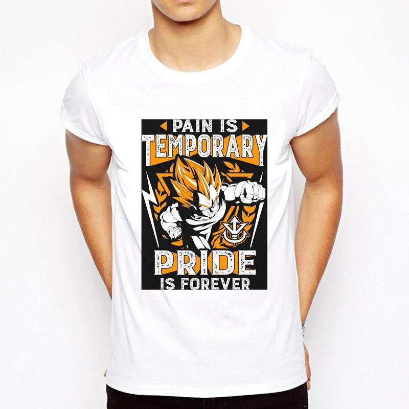2017 Super Saiyan Design Men's T shirt Dragon Ball Goku Z Vegeta Printed Tees Anime DragonBall tshirt Tops plus size 3xl