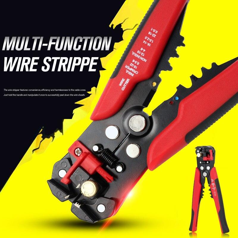 Kabel Abisolierzange Automatische Crimpzange Peeling Zange Einstellbare ferramentas Cutter herramientas Multifunktionale