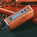 Diseño de navegación función tc athena 60 w caja de madera mod 510 hilo cigarrillo electrónico reemplazable 18650 batería vape ecig