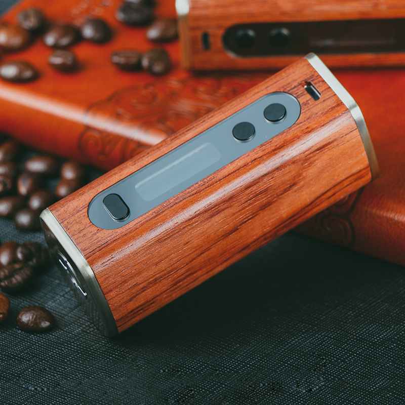 Sailing design Athena 60w box mod wood TC function 510 thread electronic cigarette replaceable 18650 battery vape ecig original electronic cigarette smoant charon ts 218 box mod 510 thread 18650 battery 218w vape mod electronic cigarette vaporzier