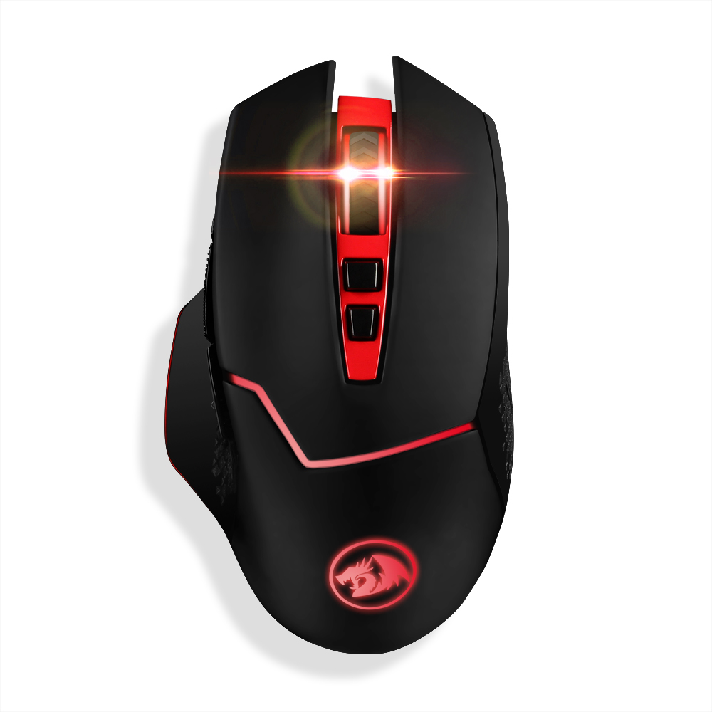 Redragon M690 4800 DPI Professionale Wireless Gaming Mouse 7 Tasti Mouse per I Giocatori di MMO Pro PC Laptop Computer Programmabile