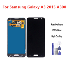 100% Tested LCD For Samsung Galaxy A3 2015 A300 A3000 A300F A300M Display + Touch Screen Assembly Replacement+Tools