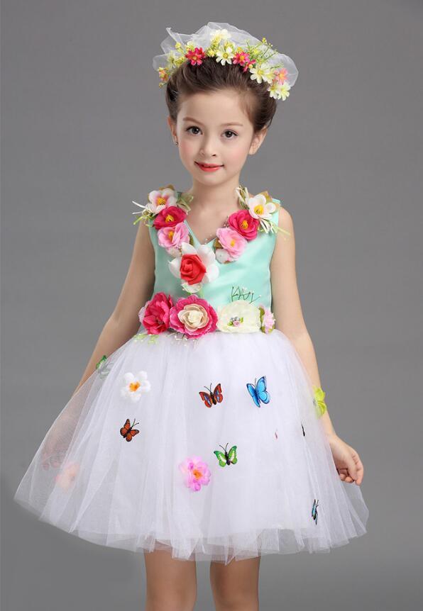 Платье для балета с блестками для девочек; нарядное детское платье для бальных танцев и сценических танцев; детское платье-пачка для выступлений в джазовом стиле - Цвет: Зеленый