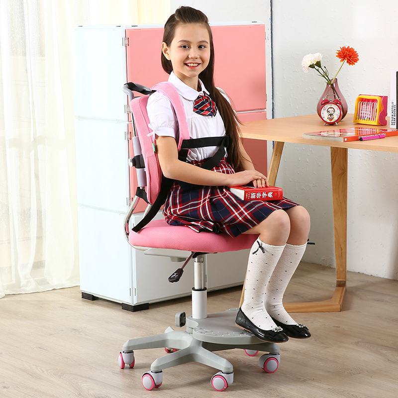 High quality double back lifting chair children study chair with back student computer chair multifunction pupil learning chair small computer chair the household contracted student chair desk chair is small 009