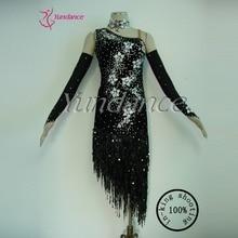 Sequin Dance Dress New Design Latin Performance Dance Dress For Girls 2017 L-11214