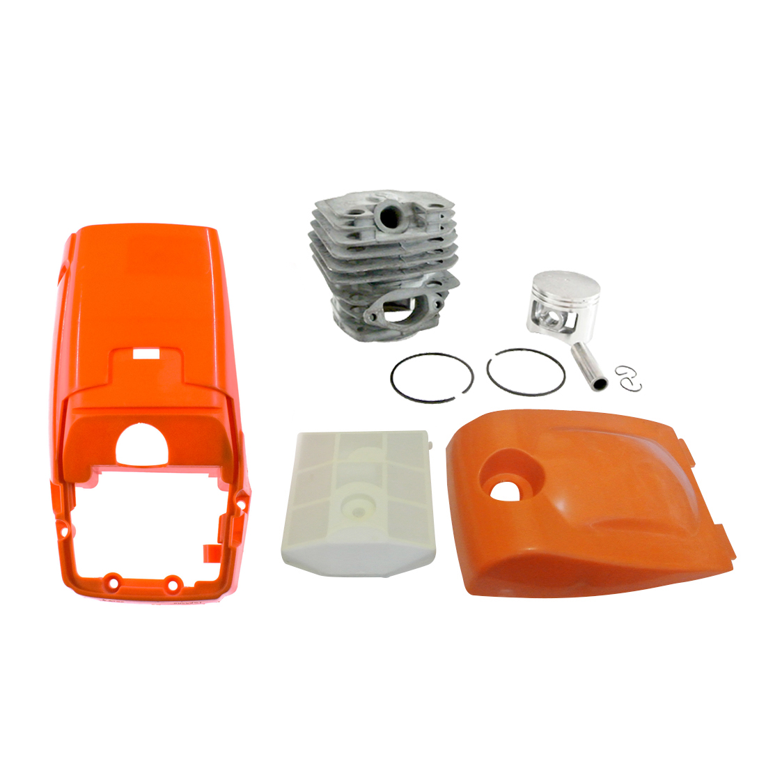 Top Engine Cover And Air Filter Kit W/ 45mm Cylinder Pin Kit Fit 5200 52cc Saw