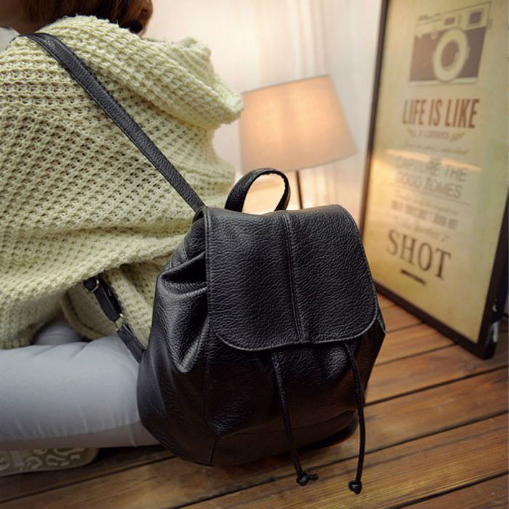 New Leather Backpack Women Backpacks Solid Schoolbag For Teenage Girl Waterproof Travel Bags For Women 2019 Deri Sirt Cantasi #6