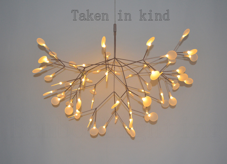 98 Cm Heracleum Leaves Led Pendant Lamp Tree Branch