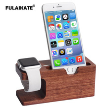 FULAIKATE Bamboo Wood Universal Stand for Apple Watch Bracket Holder iPhone 6s Plus Nightstand Dock Station Tablet PC