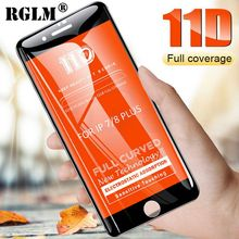 RGLM New 11D Curved Sof Edge Full Cover Tempered Glass For iPhone Xr Xs Max Screen Protector 8 7 6 6s Plus Protection