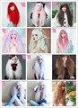 MCOSER Топ Qulaity 70 см Длинные Курчавые Вьющиеся Волнистые Зеленый/Пурпурный/Красный/Коричневый Harajuku стиль Gothic Lolita парик