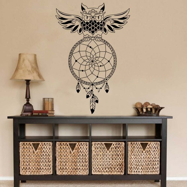 Dctop Dream Catcher Owl Wall Stickers Bedroom Removable Vinyl Art Bohemian Diy Home Decor Living