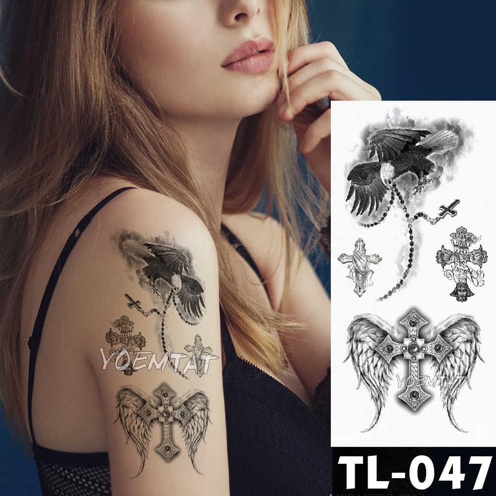 Tatuajes Temporales Falsos Pegatinas Rosa Oscura Flores Brazo Hombro Tatuaje Impermeable Mujeres Flash Tatuaje En El Arte Del Cuerpo
