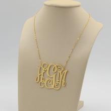Big Monogram Necklace Necklace Custom 3 Initial Necklace Personalized Large Monogram Satement Necklace Hip Hop