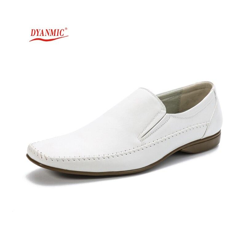 DYANMIC Solid White Wedding Shoes Autumn New Men's ...
