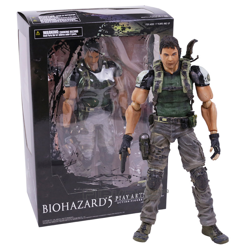 PLAY ARTS KAI Biohazard 5 Resident Evil 5 Chris Redfield PVC Action Figure Collectible Model Toy resident evil 5 русский язык sony playstation 4 ролевая боевик