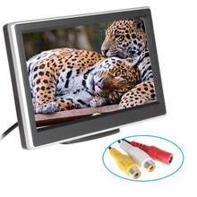 4.3 «дюймовый автомобильный Мониторы TFT ЖК-дисплей Экран цифровой Цвет заднего вида Мониторы Поддержка VCD DVD GPS Камера с 2 видео входы + присоске