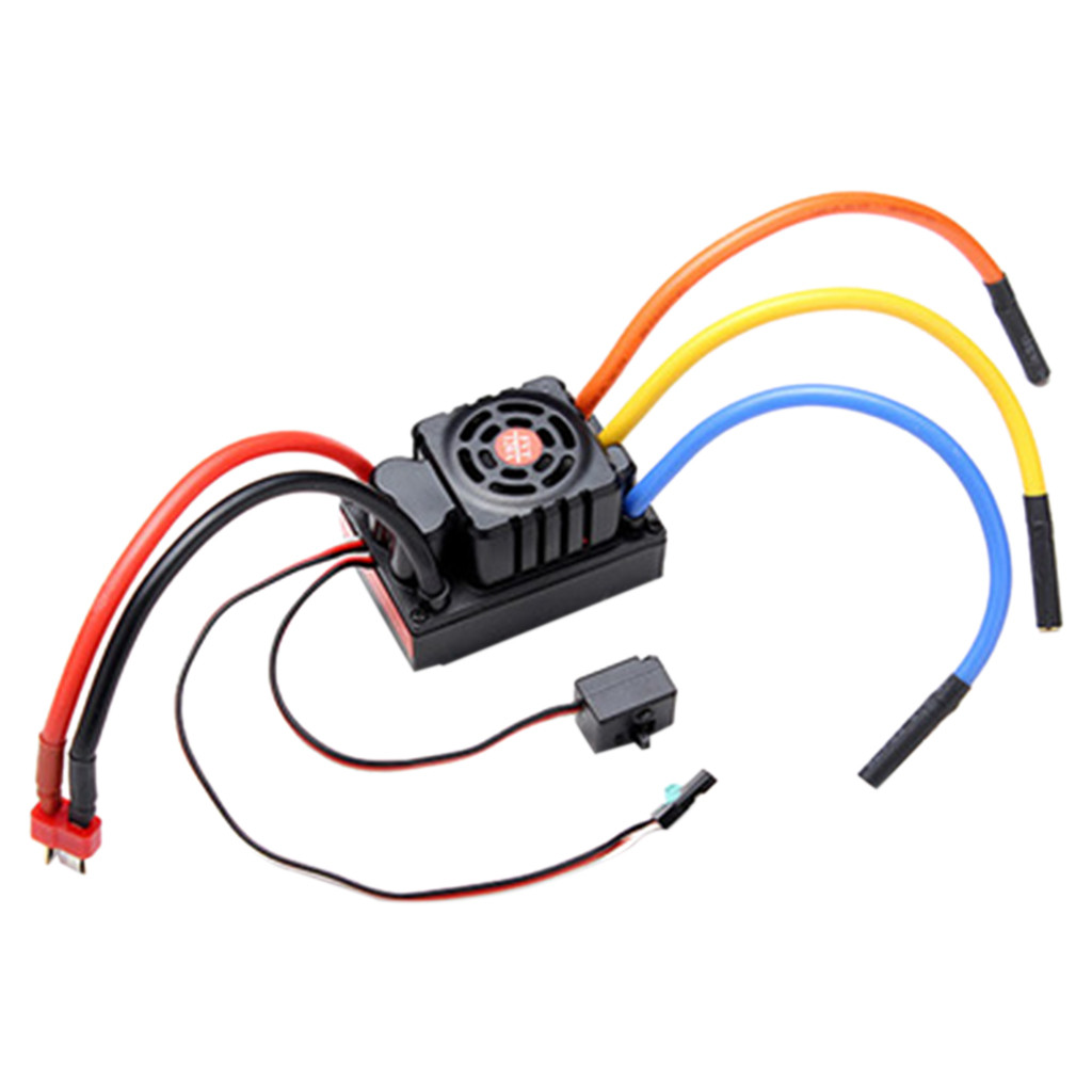FVT 120A Waterproof Brushless ESC For 1/8 1/10 RC Car Skateboard ESC Parts Accessories Toys for Children