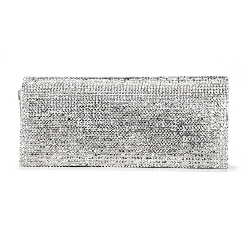 shimmering argent or noir diamante soire pochette sac main de soire de mariagejpg - Pochette Argente Mariage