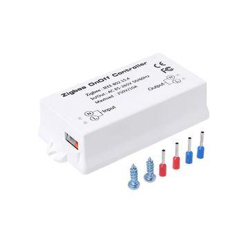 OOTDTY Zigbee On/Off Управление Лер Smart Switch приложение Remote Управление Умный дом модуль AC85-265V 10A белый переключатели