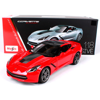 Maisto 1 18 2014 Chevrolet Corvette Z51 Sports Car Hardback Diecast Model Car Toy New In