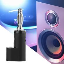10pcs Banana Connector Black Lantern Type Speaker 4mm Plug Audio without Soldering