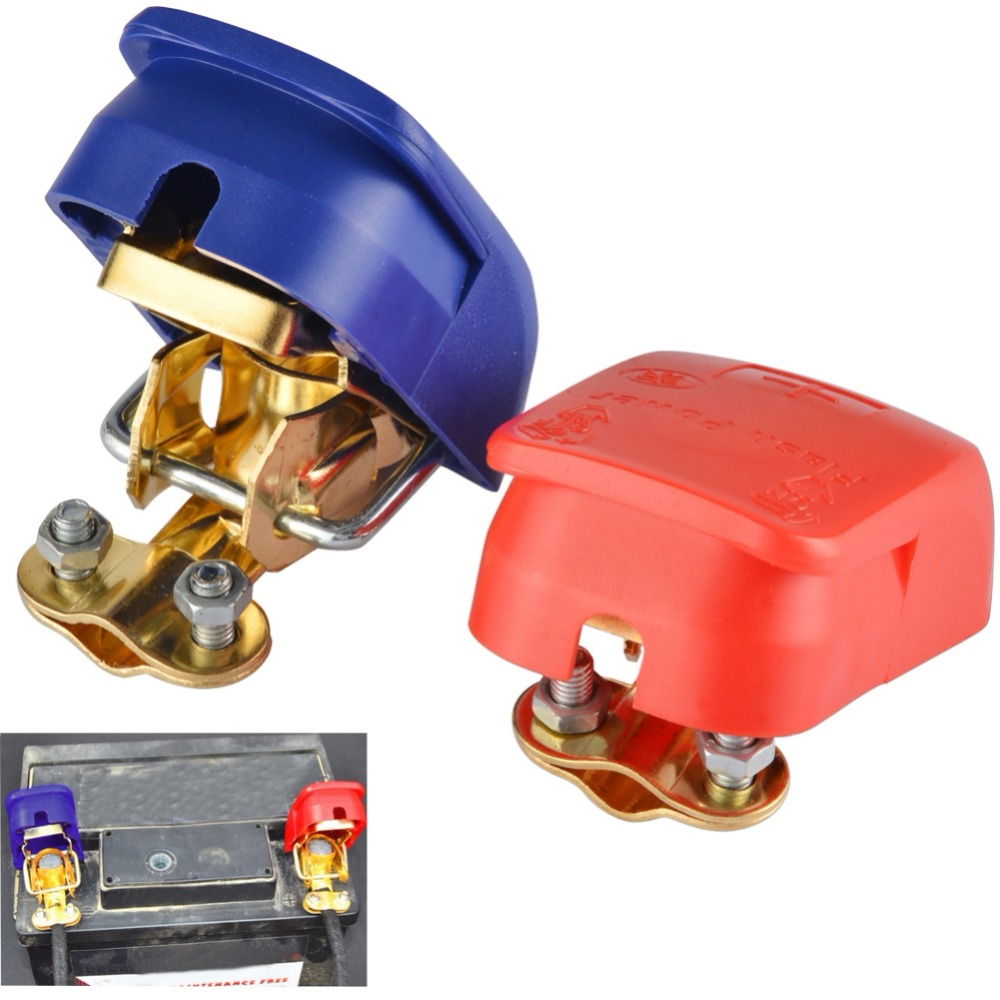 1 Pair Auto Car Battery Terminal Connector Battery Pair 12V Quick Release Battery Terminals Clamps For Car Caravan