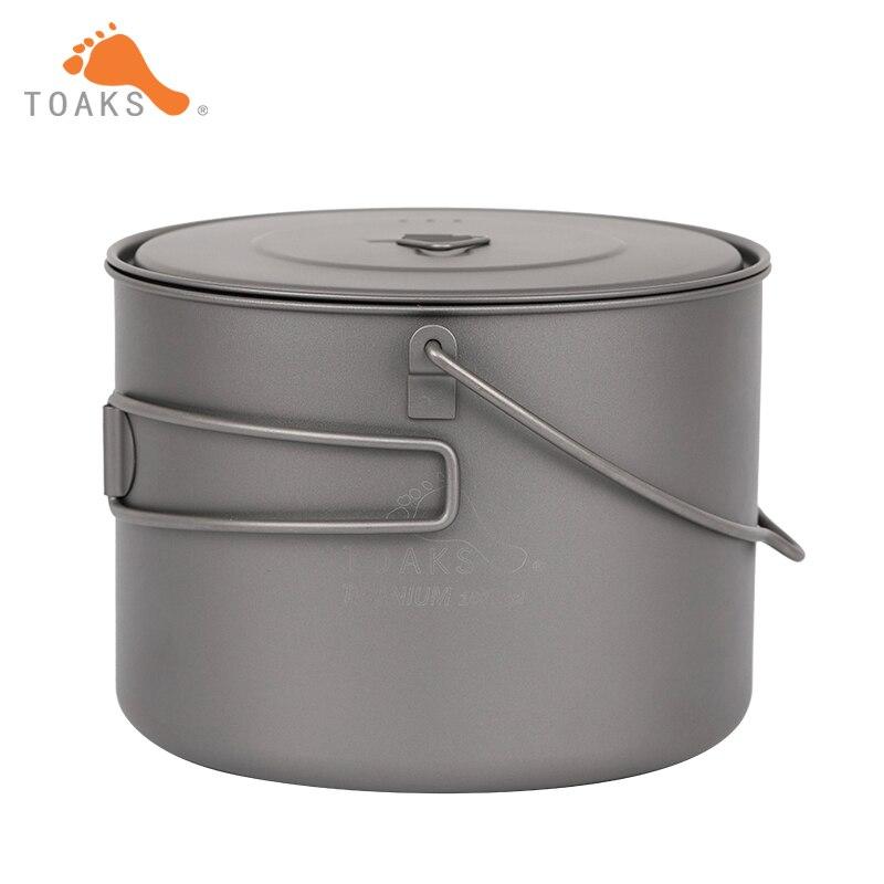 TOAKS Титан горшок Кемпинг Пособия по кулинарии pots Пикник повесить пот Сверхлегкий Титан горшок 1600 мл POT-1600-BH